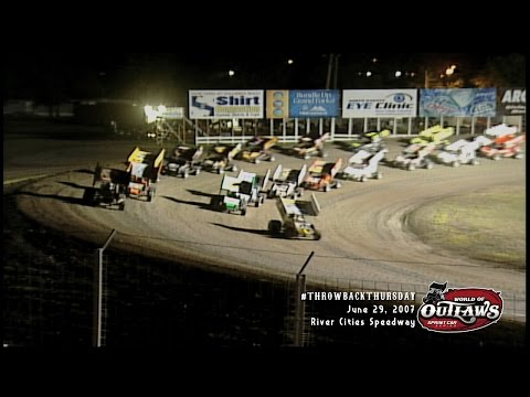 #ThrowbackThursday: World of Outlaws Sprint Cars River Cities Speedway June 29th, 2007