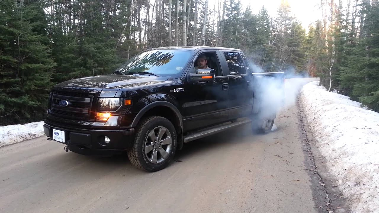 Ford F150 Lifted >> 2013 F150 FX4 Burn Out! - YouTube