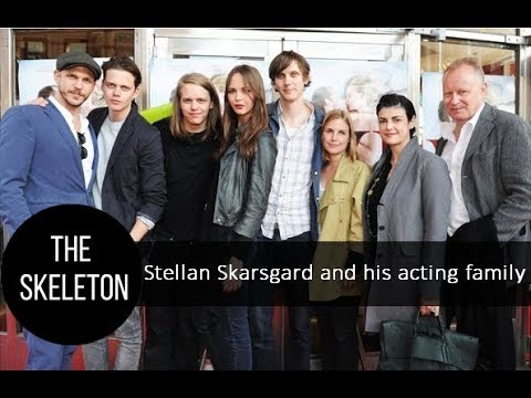 Stellan Skarsgård and his acting family; wives and kids