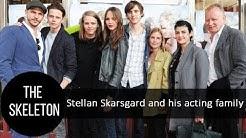 Stellan Skarsgård and his acting family; wives and kids