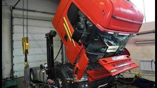 Фото SCANIA R пробег 1.5 млн - задиры на гильзе и поршне - диагностика и ремонт двигателя  DC12 / Repair