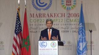 Secretary of State John Kerry delivers his last speech to the UNFCC...