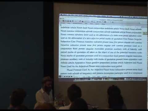 Kenneth Goldsmith :: Uncreative Writing (MaMa @ Zagreb)