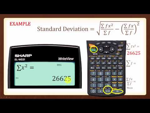 Standard Deviation SHARP W531