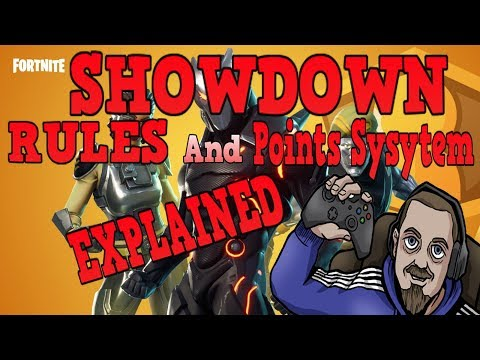 FORTNITE - NEW showdown Tournament - Rules and Point system Explained