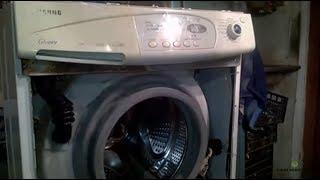 Течь воды из под стиральной машины Самсунг