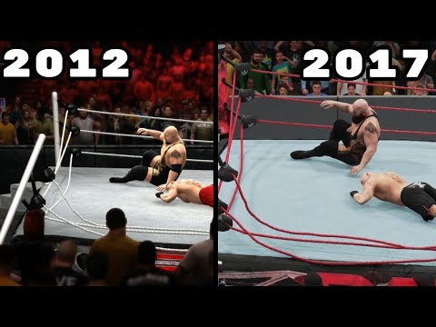 The Evolution Of Breaking The Ring In WWE Games (2012-2017)