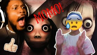 Reacting to CoryxKenshin playing MOMO!!! *Scary kinda*