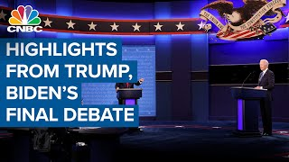 Highlights on President Donald Trump and Joe Biden concluding their final debate