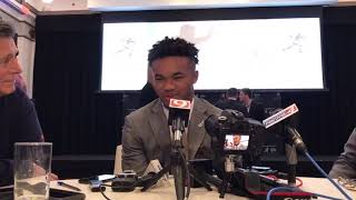 Kyler Murray at NYSE for Heisman event