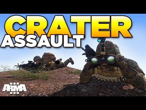 CRATER ASSAULT | ARMA 3 Zeus