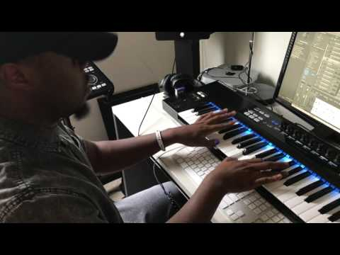 Mike Kalombo making Beats and Writing