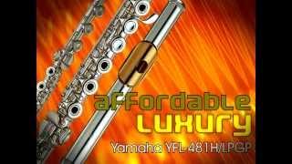 Yamaha YFL-481H/LPGP Professional Flute Silver Headjoint, body, B-footjoint, Gizmo, Gold Lip