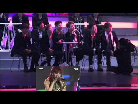 BTS & IKON Reaction to CL & 2NE1 [MAMA] 2015 Fancams Part 1