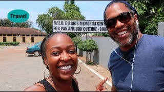 Visiting the W.E.B.  Du Bois Center | Ghana Vlog Day 2