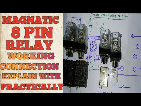 8 pin relay working and connection Ge Pin Relay Wiring Diagram on