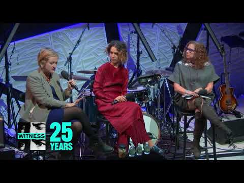 Emily May Cleo Wade and Abigail Disney speak at WITNESS&39; A Night for Change November
