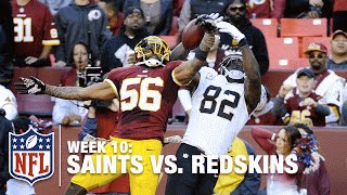 Perry Riley Jr.'s Awesome One-Handed INT on Brees' Pass! | Saints vs. Redskins | NFL
