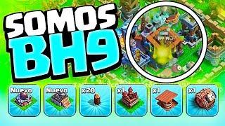 VAMOS FLYING EN LA ALDEA DEL CONSTRUCTOR ¡¡PONEMOS EL BH9!! | Clash of Clans