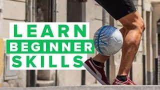 Learn 3 amazing beginner football skills | cool street flick ups