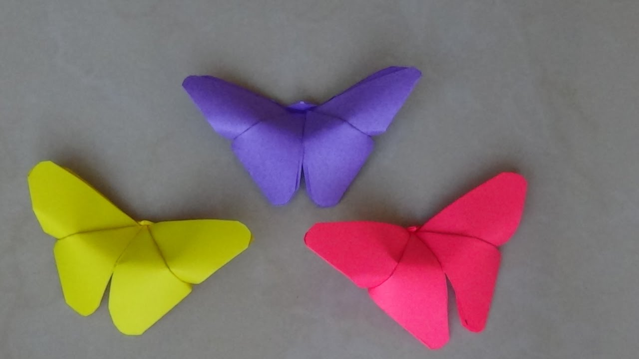 Simple And Easy Paper Crafts Paper Butterfly Kids Crafts Origami