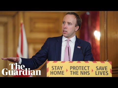 Coronavirus: Matt Hancock holds daily briefing on the outbreak – watch live