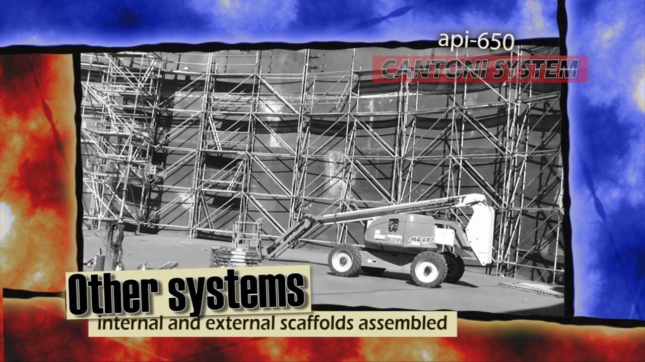 field erected tanks api cantoni system  innovative method