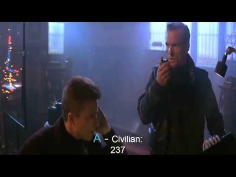 Die Hard 2 - On screen deaths