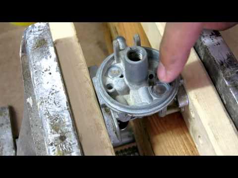 Briggs & Stratton 6.5HP lawn mower carburetor clean & rebuild - carb welch plug removal replacement