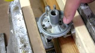 briggs stratton 6 5hp lawn mower carburetor clean rebuild carb welch plug removal replacement