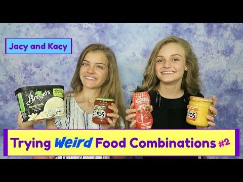 Thumbnail: Trying WEIRD Food Combinations People LOVE! 2 ~ Jacy and Kacy