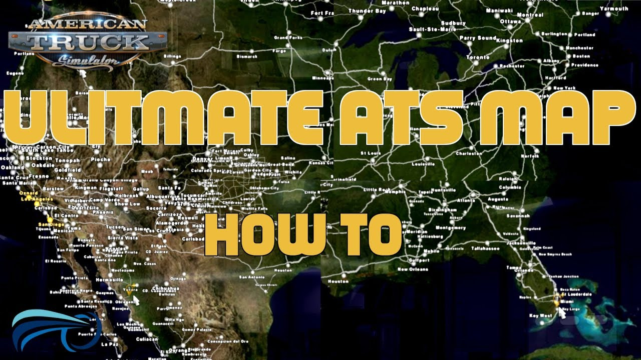American Map Company Inc.American Truck Simulator Ultimate 1 31 Map Mod How To Youtube