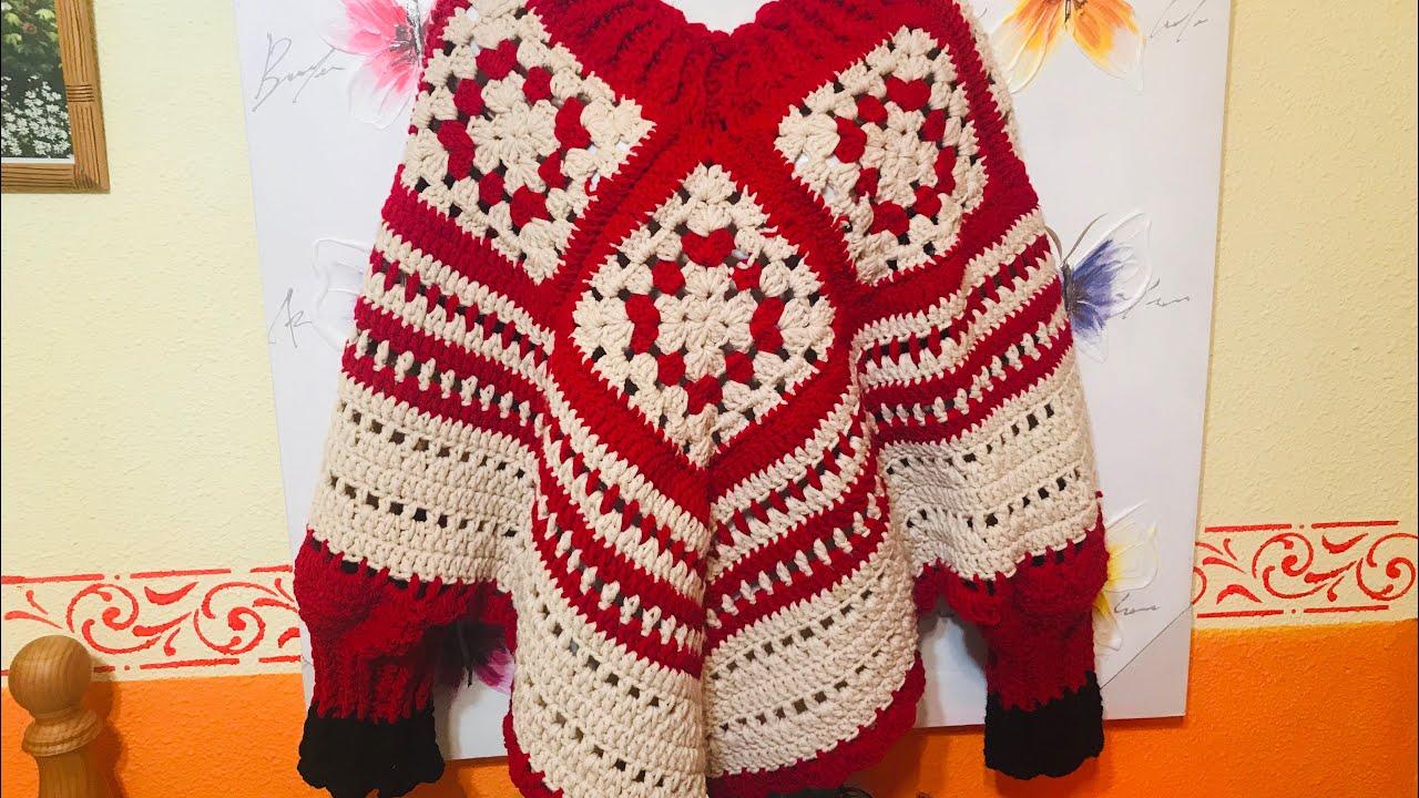 Poncho A Crochet Con Mangas Facil Y Rapido Crochet Eu