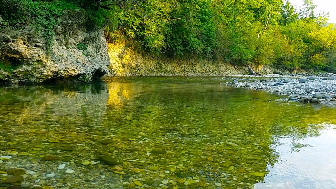 Звуки журчащей реки скачать