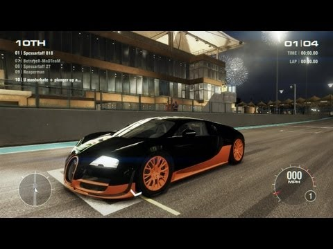 GRID 2 PC Multiplayer Gameplay: Tier 4 World Record Edition livery Bugatti Veyron 16.4 Super Sport