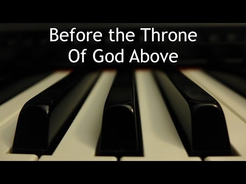 Before the Throne of God Above - piano instrumental cover with lyrics