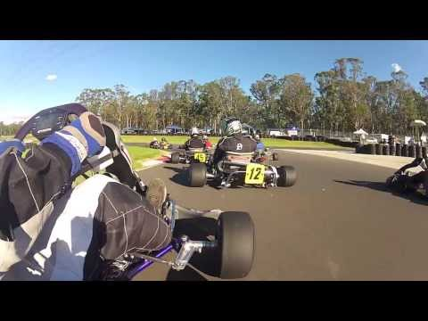 Go-Kart Racing Highlights + Huge Crash (GoPro HD)