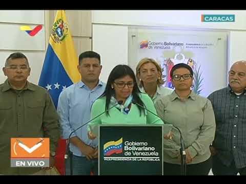 Vicepresidenta Delcy Rodríguez, declaraciones y respuesta a Mike Pence, 22 enero 2019