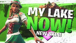 MY LAKE NOW! NEW HEIDI SKIN SOLO GAMEPLAY (Fortnite BR Full Match)