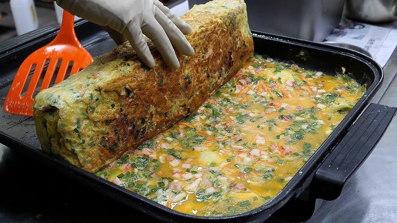 계란 50개! 대왕 계란말이 / 50 eggs! giant rolled omelette / korean street food