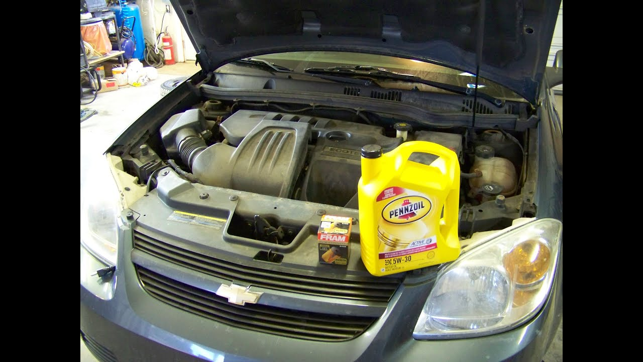 2005 Chevy Cobalt Oil Change 22L Ecotec  YouTube