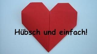 Herz falten aus Papier - sehr einfach! - Origami