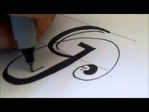 how to draw a swiverled fancy letter 'G'