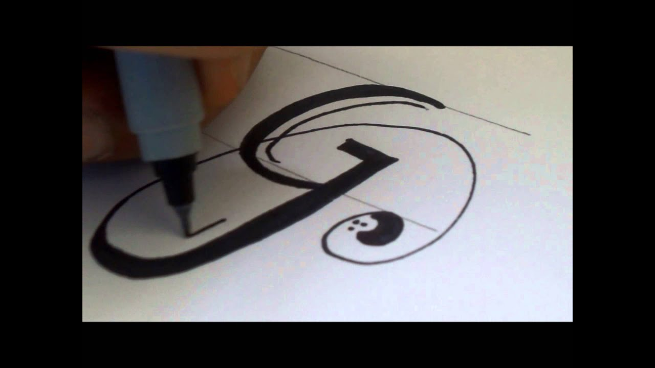 How To Draw A Swiverled Fancy Letter G