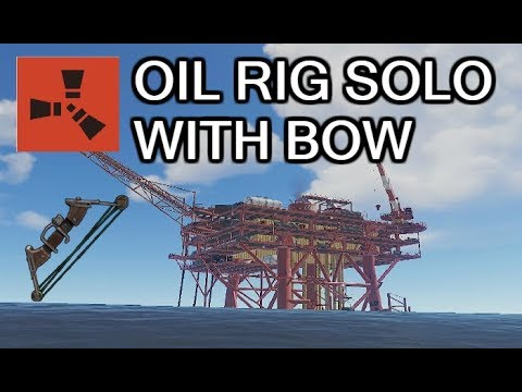 RUST - HOW TO LOOT OIL RIG SOLO WITH ONLY COMPOUNDBOW thumbnail