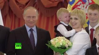Путин попытался утешить расплакавшегося в Кремле трёхлетнего мальчика