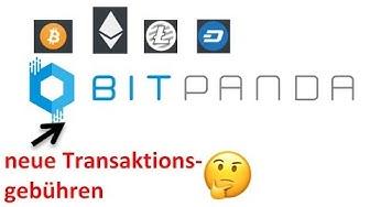 Bitpanda - neue Transaktionsgebühr für Überträge in ein externes Wallet