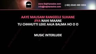 Video Aaye mausam rangeele suhane - Video Karaoke - Zubaida Khanum - by Baji karaoke download MP3, 3GP, MP4, WEBM, AVI, FLV Juni 2018