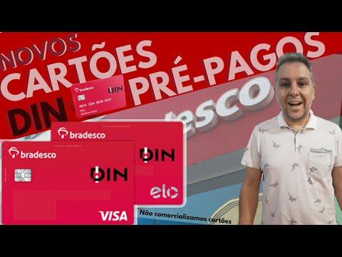 💳Novos Cartões Pré-Pagos Bradesco DIN VISA e ELO Internacional.✔