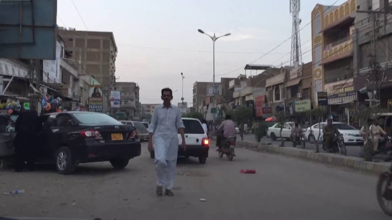 TimeLapse: A typical evening of Latifabad No  7, Hyderabad Sindh Pakistan -  October 6, 2016